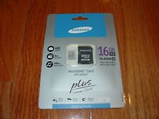 NEW Samsung 16GB Class 10 PLUS Extreme Speed MicroSDHC Card with Adapter