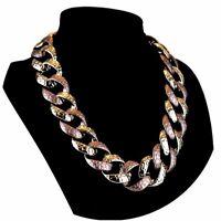 Halskette Abend Kette Statementkette Charms Necklace Collier L564