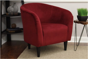 Mainstays Microfiber Tub Accent Chair - Berry Red