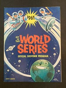 1965 MLB World Series program Twins Dodgers Out of This souvenir KOUFAX DRYSDALE