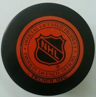 PITTSBURGH PENGUINS VINTAGE OFFICIAL TRENCH NHL HOCKEY PUCK MADE IN SLOVAKIA