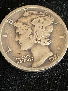 1921-D Silver Mercury Dime, a Key Date to the Series