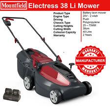 Mountfield Electress 38Li Rotary Lawn Mower 38cm Brushless 2 x 4.0Ah Li-Ion