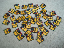 Vintage Embroidery CRAYOLA CRAYON BOX Patch Fabric Applique Lot Mini Sew On