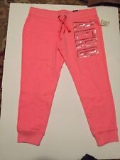 Aeropostale Jogger Sweat Pants Junior Large Pink/peach New With Tags