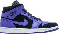 Air Jordan 1 Mid Black/Dark Concord-White (554724 051)