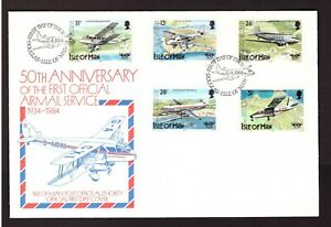 Isle of Man 1984 FDC Aviation/Planes cover