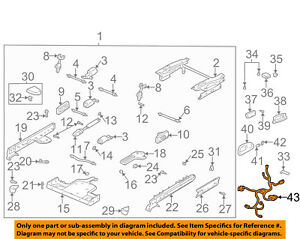 Buick GM OEM 00-05 LeSabre Seat Track-Wire Harness Left 15318141
