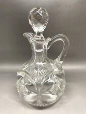 Piccola vintage cut in vetro pressato (?) Bottiglia-sconosciuto Maker