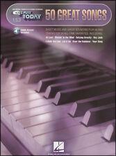 50 GRANDI CANZONI E Z Play Today Spartiti Musicali LIBRO CON AUDIO TASTIERA ORGANO