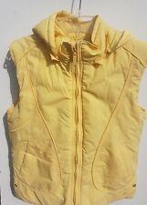 Diesel Clothing Women Yellow Hoodie Padded Gilet Windcheater Body Warmer Size M