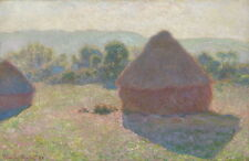 Claude Monet Meules Milieu Du Jour Haystacks Midday Giclee Paper Print Poster