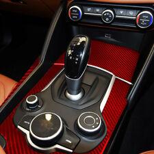 Real Carbon Fiber Car Gear Shift Panel Cover Trim For  Alfa Romeo Giulia Stelvio