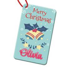 Personalised Any Name Rectangle Christmas Bauble Tree Decoration Gift 187