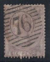 Großbritannien 1856 Mi. 14 Gestempelt 60% 6 Pence, Königin