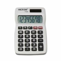 Victor 700 Pocket Calculator - 4 Functions - 8 Character[s] - Lcd - Solar,