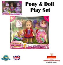 PONY & DOLL PLAY SET Little Pony Play Set Toy Girls Toy Gift Princess Play Set