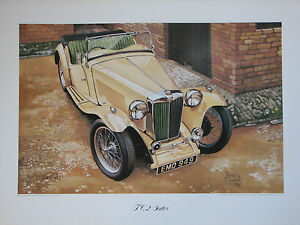 MG  T C 2- Seater. Vintage Car Print. MG Print.