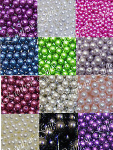 FAUX PEARL ROUND BEADS 4mm  6mm & 8mm BEADS FLY TYING ACRYLIC ROUND BEADS