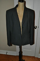 WOMENS TAHARI Pin Stripped Blazer Pink/Gray Fully Lined Size 16 ~NICE~