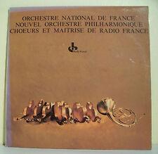 2 x 33T ORCHESTRE NATIONAL FRANCE Disques PHILHARMONIQUE CHOEURS MAITRISE RADIO
