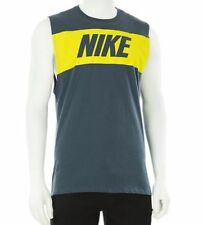 Nike Mens Athletic Cut Retro Look Muscle Shirt  NWT Size  Small  Blue Yellow