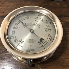 *ANTIQUE* William Pope By American Steam Gage Pressure & Vacuum Gauge All Brass