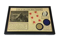 American Civil War Era Playing Cards with Poker Chips in Display Case with COA