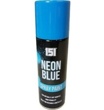 FLUORESCENT NEON BLUE SPRAY PAINT FOR INTERIOR EXTERIOR