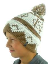 O'Neill Pompom Hat Winter Hat Beanie Billboard Braun Norwegian Pattern