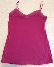 Ann Taylor Loft Pink Camisole with Lace Edge Size Small