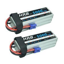 2pcs HRB 6S 5000mAh 22.2V RC Drone Lipo Battery DJI AKKU 50C 100C Airplane EC5
