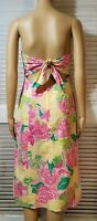 Lilly Pulitzer strapless floral dress size 6