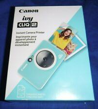 Canon ivy CLIQ 2 Instant Camera Printer turqoise matte Brand new