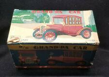 Vintage 1950s Rosko B/O Grand-Pa Car #1440 Tin Litho Battery Operated Runs Japan