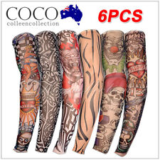 Nylon Sleeve 6pcs Men Women  Temporary Tattoo Sleeve Arm Stockings Tatoo Cool AU