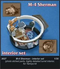 CMK 1/35 M4 Sherman US Medium Tank WWII Turret Interior Detail Set (Tamiya) 3027