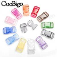 """12X Colorful 3//4/"""" Side Release Buckles for Paracord Bracelets Dog Cat Collar"""