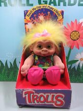"""1992 Girl In Play Suit -11"""" Sky Kids, Inc. Troll Doll -New In Package- Very Rare"""
