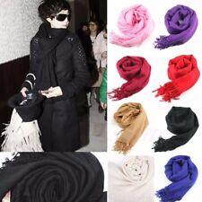 Women Long Large Stole Pashmina Tassels Shawl Wool Blend Scarf Winter Warm Wrap