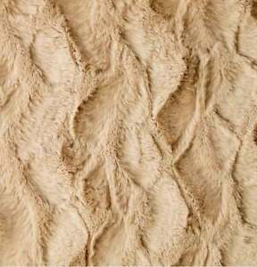 Brown Soft Faux Fur Fabric Material by The Metre Short Pile Material for Sewing Throws Jackets Coats W150CM