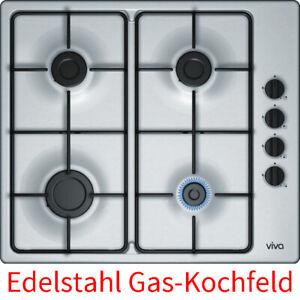 Viva 60 cm Edelstahl Einbau Gaskochfeld Gaskochmulde Gaskocher Kochfeld 4 Zonen