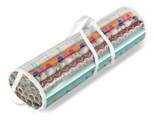 Gift Wrap Organizer Wrapping Paper Wire Rolled Rolling Roll Storage Bag Tote