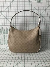 Coach F29209 Zip Shoulder Bag in Signature Coated Canvas Light Khaki Chalk
