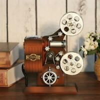 Retro Wood Metal Projector Model Music Box Antique Musical Jewelry Boxes Gift