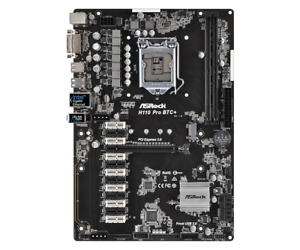 ASRock H110 Pro BTC+ ATX Mining Motherboard