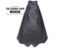 For Audi 80 90 B3 B4 1984-96 Shift Boot Black Genuine Leather Blue Stitching