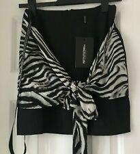Minigonna Stampa Animale Zebra Nero Bianco Lycra Da Donna Bodycon Party Club S143