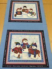 Invierno Deseos por Michele D'AMORE PARA benartex (Azul) Navidad Panel - 60cms