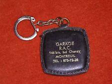 Porte-clé Keychain Garage R A C Bd CHANZY MONTREUIL ... Tacot 1901 sur cuir / OR